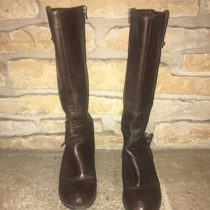 Guess  Brown Leather Women's Boots size 10.